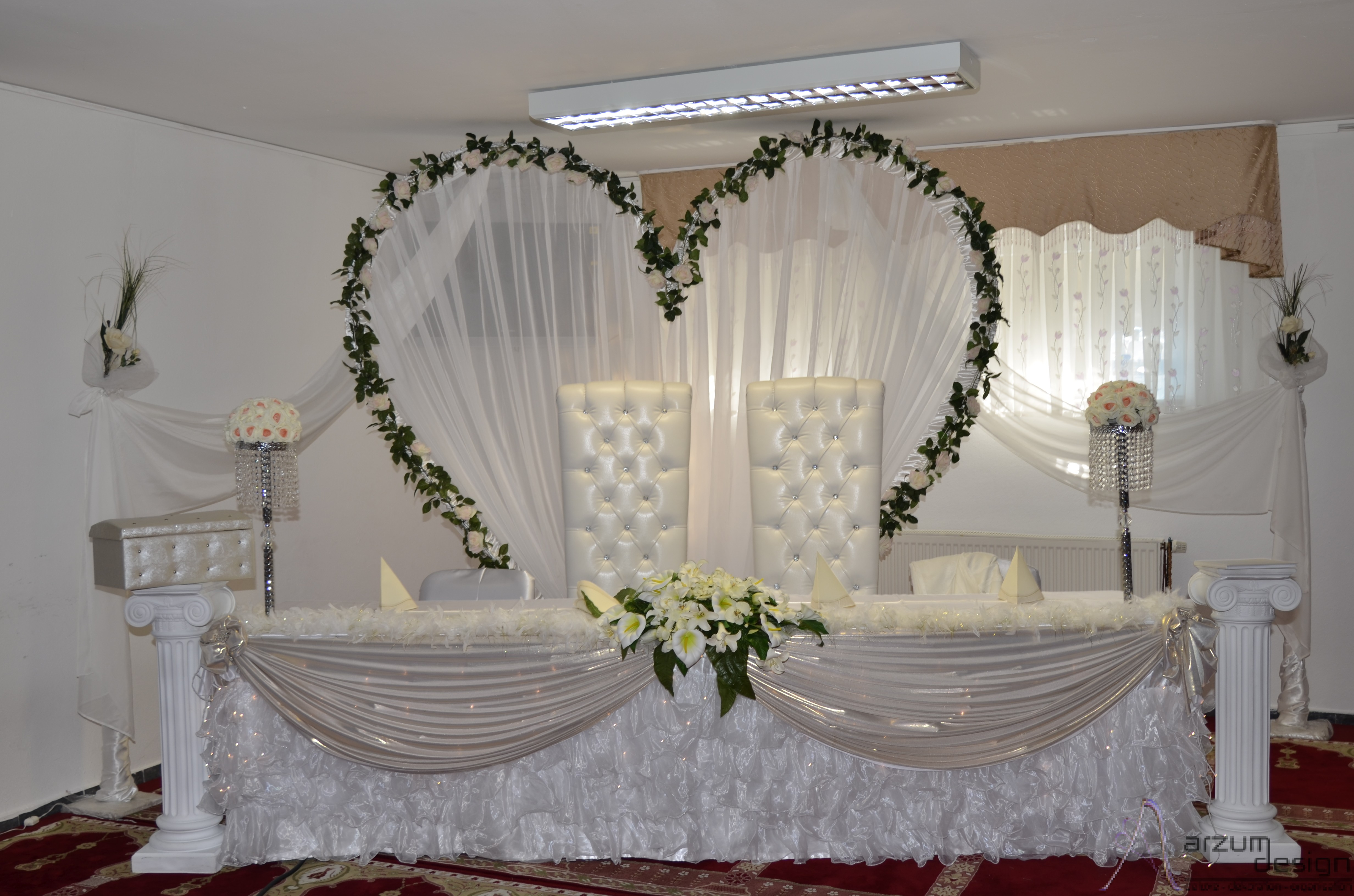 Herz Arzum Design Deluxe Dekoration Organisation Hochzeit U
